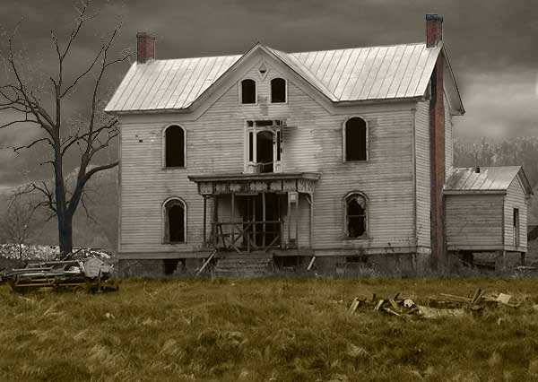 Image of dilapidated house